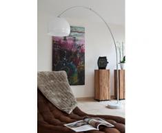 SalesFever Bogenlampe 230 cm weiß Kunststoff