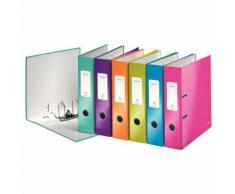 1005 Ordner WOW A4 - 80 mm, sortiert (pink, blau, eisblau, grün, orange, violett)