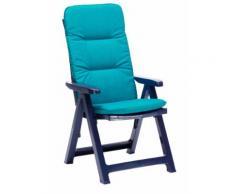 BEST Klappsessel Santiago blau+PL D.1360 96206024