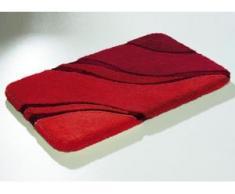 """Kleine Wolke"""" Badgarnitur in verschiedenen Farben, Größe 112 (WC-Deckelbezug mit Kordel), Rubin"""