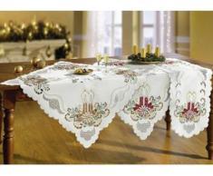 Tisch- und Raumdekoration mit feinen Stickerei-Einsätze, Größe 101 (Läufer oval, 35x 50 cm), Gold
