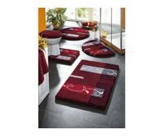 Supersoft Badgarnitur mit rutschhemmender Latexierung, Größe 112 (Deckelbezug mit Kordel, 47/ 50 cm), Rot