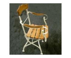 Gartenstuhl Laura, Armlehnen-Stuhl, Großmutters Gartenmöbel, klappbar