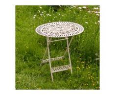 Klapptisch viktorianischer Stil, Gartentisch Metall, Terrassentisch Shabby Chic
