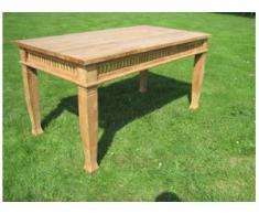 Esstisch massiv 150 cm, Holz Tisch, Teak Betawi als Wintergarten od Gartenmöbel