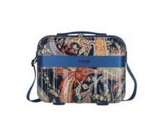Titan Spotlight Flash Beautycase 38 cm paisley blue