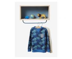 Wandregal für Kinderzimmer natur/blau von vertbaudet