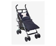 Jeans-Fußsack für Kinderwagen denim von vertbaudet