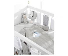 VERTBAUDET Polster für Babybett-Gitterstäbe weiß bedruckt