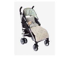 VERTBAUDET Kinderwagen-Fußsack mit Rentieren wollweiß kirsche