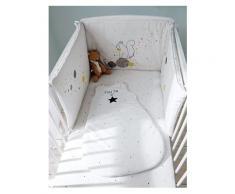 Bettumrandung fürs Babybett weiß bedruckt Größe 360X40 von vertbaudet