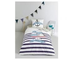 Maritimer Bett- und Kissenbezug für Kinder pirat Größe 140X150 63X63 von vertbaudet