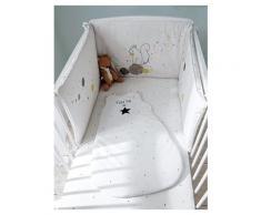 Bettumrandung fürs Babybett weiß bedruckt Größe 180X40 von vertbaudet