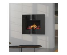 Noble Flame APOLLO [Opti-myst Elektro-Wandkamin]: Weiß - Schwarz, spiegelnd