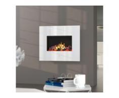 Noble Flame APOLLO [Opti-myst Elektro-Wandkamin]: Weiß - Schwarz, pulverbeschichtet