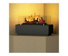 bergamo mobiletti [Elektro-Tischfeuer]: 60 cm - schwarz-grau