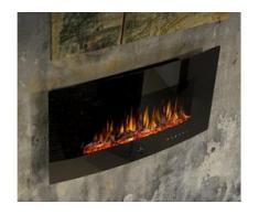 Noble Flame DETROIT 900 schwarz [gewölbter Elektro Wandkamin]