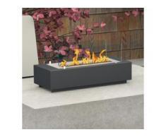 bergamo mobiletti [Ethanol-Tischfeuer]: 75 cm - schwarz-grau