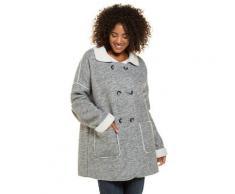 Große Größen Jacke Damen (Größe 58 60, grau-melange) | Ulla Popken Jacken | Polyester, doppelte Knopfleiste