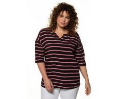 Große Größen Bluse Damen (Größe 58 60, schwarz) | Ulla Popken Langarmblusen | Viskose, Zier-Knopfleiste hinten