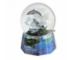 Schneekugel spielende Delfine mit Spieluhr