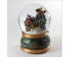 Schneekugel Weihnachtliche Winterszene mit Spieluhr