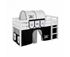 Taschen für Hochbett Spielbett Pirat-Schwarz-Weiß