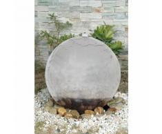 EEK A+, LED-Außen-Brunnen Ø40cm 4-flammig - Silber Kunststoff