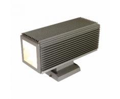 EEK A++, Außenwandleuchte Squared 2-flammig - Silber Aluminium
