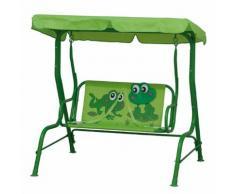 Hollywoodschaukel Froggy - Stahl/Polyester - Grün/Froschmotiv