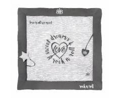 Krabbeldecke Lil Rock Star Baby - Baumwollstoff - Grau / Weiß