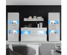 Wohnwand Liminka IV (4-teilig) - Hochglanz Weiß / Weiß