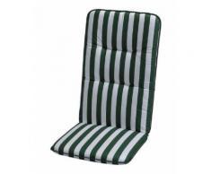 Auflage Basic Line - Grün-Weiß gestreift - Hochlehner - 120 x 50 cm