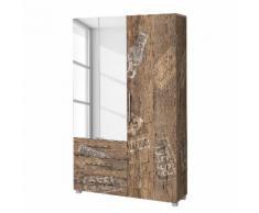 Garderobenschrank Aliane I - Eiche Panama Dekor