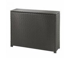 Kissenbox Rattan - Kunststoff - Braun