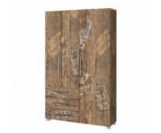 Garderobenschrank Aliane III - Eiche Panama Dekor
