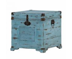 Truhe Chapalasee - Tanne massiv - Vintage blau