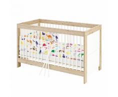 Babybett Candeo Kids - Eiche Dekor / Weiß