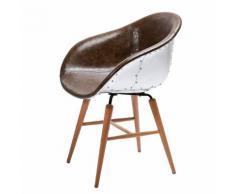 Stuhl Forum Soho - Kunstleder/Aluminium