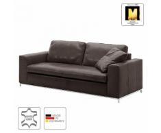 Sofa Concept102-M (3-Sitzer) Echtleder - Mokka - Ohne Kissen