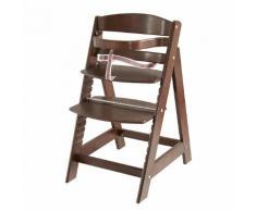 Treppenhochstuhl Sit up 3 - Braun - gebeizt