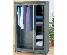 Kleiderschrank mit Wäschesortierer - Grau