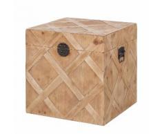 Holztruhe Souillac - Eiche massiv - 48 cm