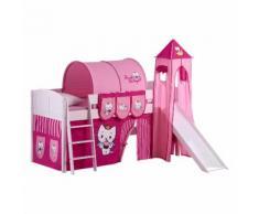 Spielbett Angel Cat Sugar -Kiefer massiv - mit Turm und Rutsche