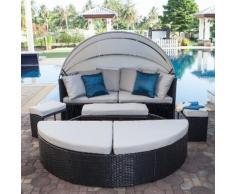 Sonneninsel Paradise Lounge - Webstoff / Polyrattan - Grau