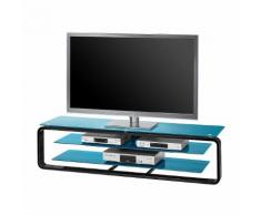 TV-Rack Jared I - Schwarz / Glas Petrol - 150 cm