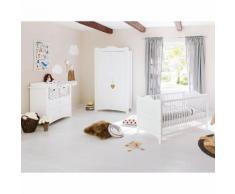 Babyzimmerset Florentina Kids I (3-teilig) - Weiß