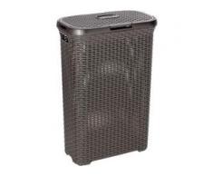CURVER STYLE Wäschebox, 40 Liter, Wäschsammler aus Kunst, Farbe: dunkelbraun