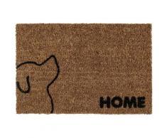 Fußmatte »Kokos Hund«, Andiamo, rechteckig, Höhe 17 mm, Schmutzfangmatte, mit Spruch, In- und Outdoor geeignet