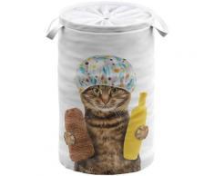 Sanilo Wäschekorb »Shower Cat«, 60 Liter, faltbar, mit Sichtschutz